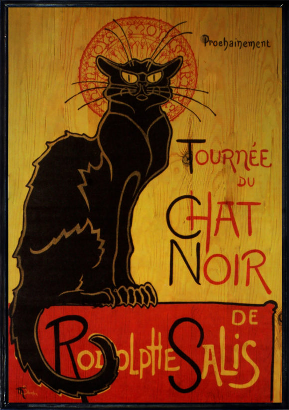 Chat Noir Ahşap Tablo