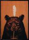 Bear Ahşap Tablo