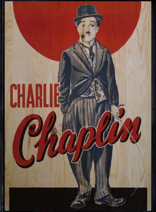 Chaplin Ahşap Tablo