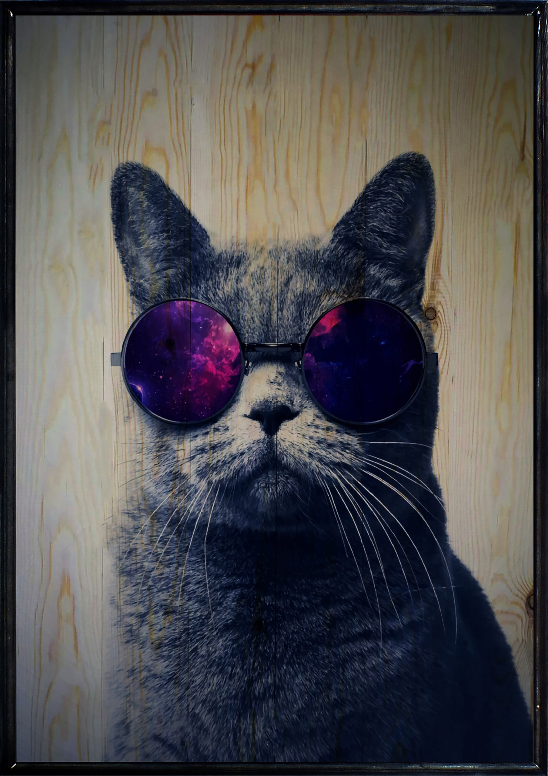 Cool Cat Ahşap Tablo