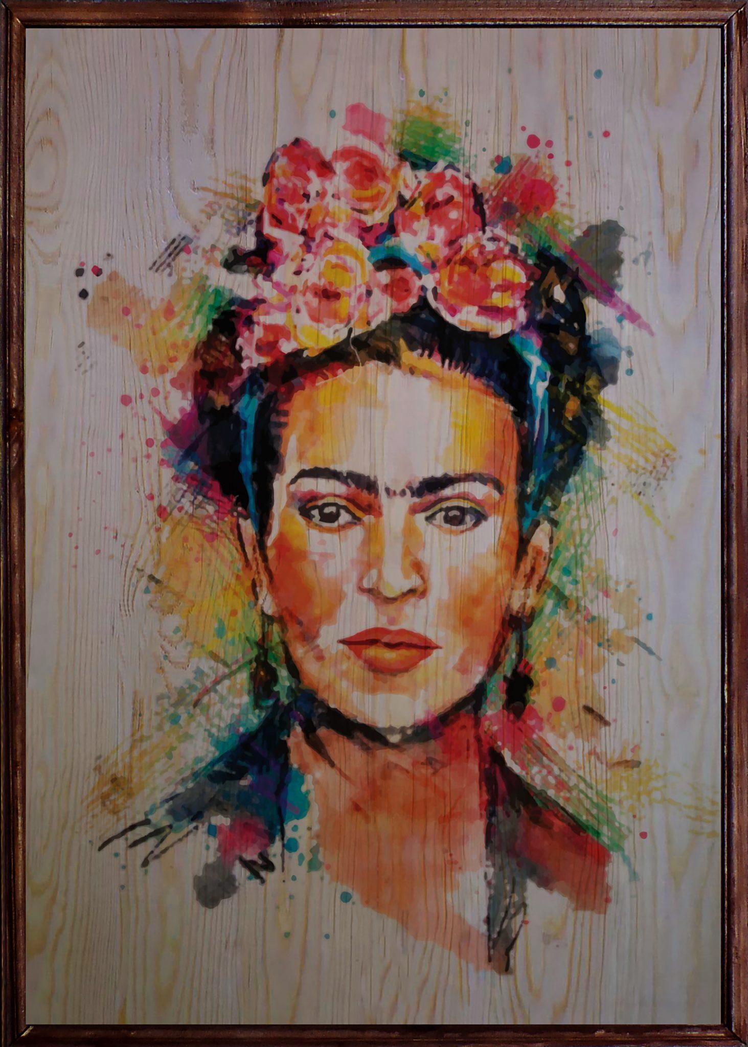 Frida Ahşap Tablo