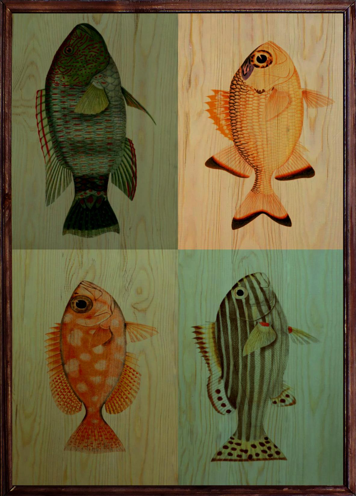 Fish Ahşap Tablo