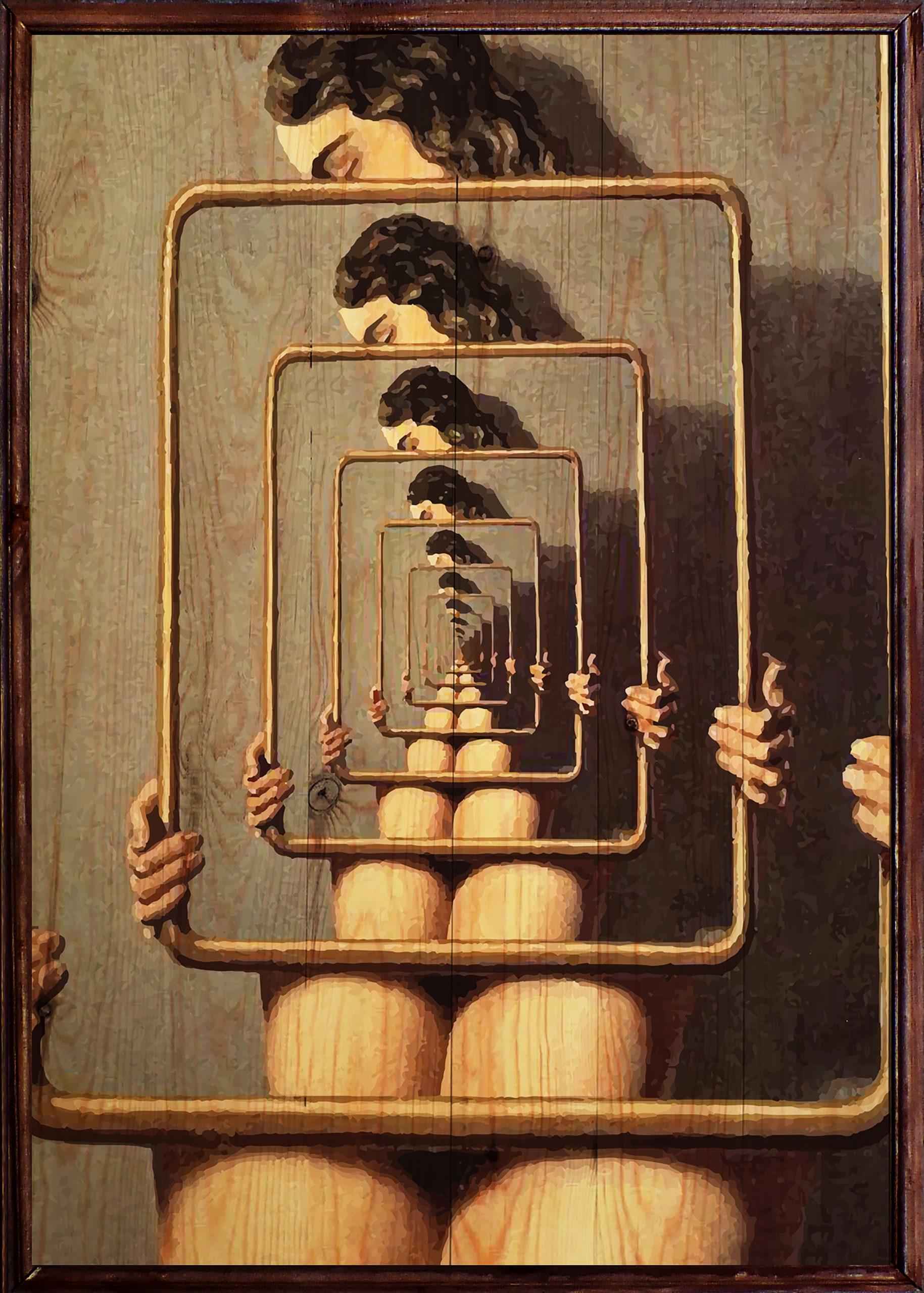 Magritte Ahşap Tablo