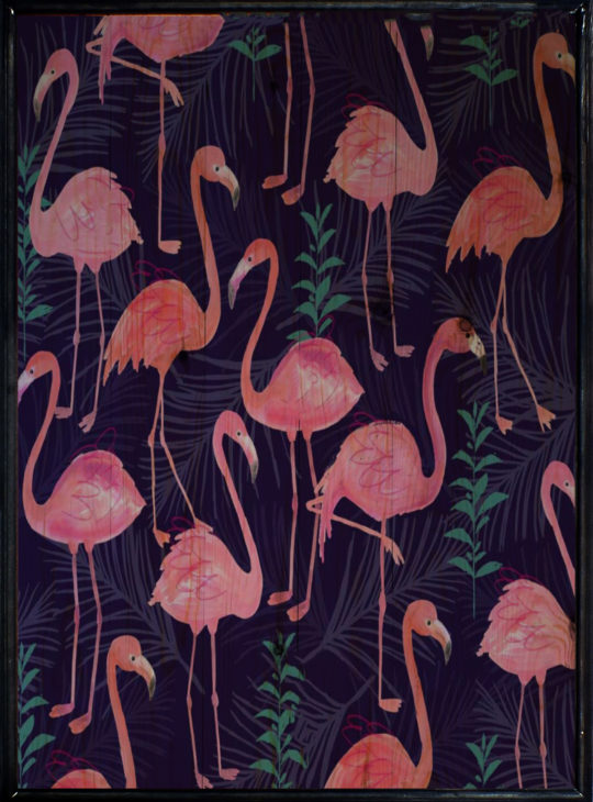 Flamingo Ahşap Tablo
