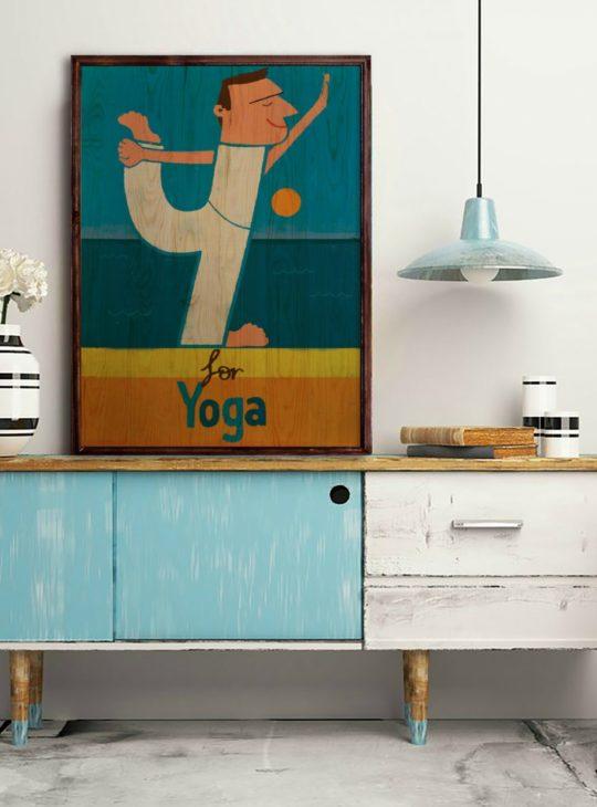 Yoga Ahşap Tablo