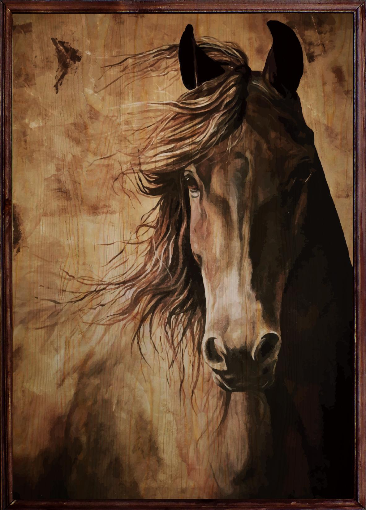 Horse Ahşap Tablo