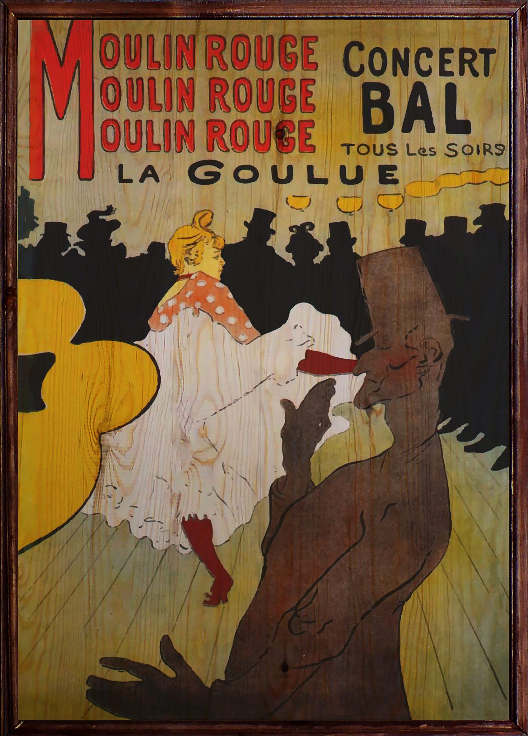 Moulin Rouge Ahşap Tablo