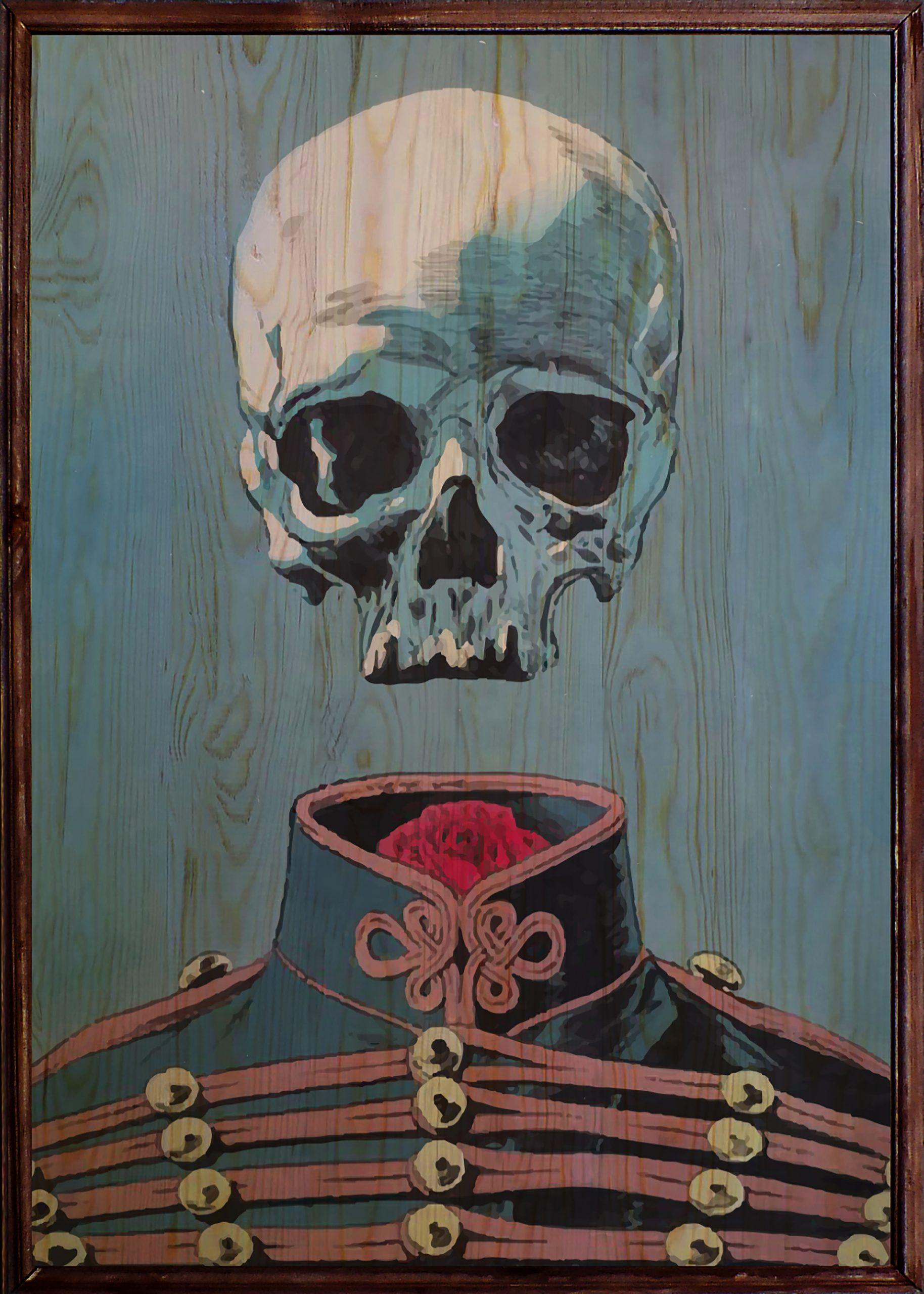 Skull Ahşap Tablo