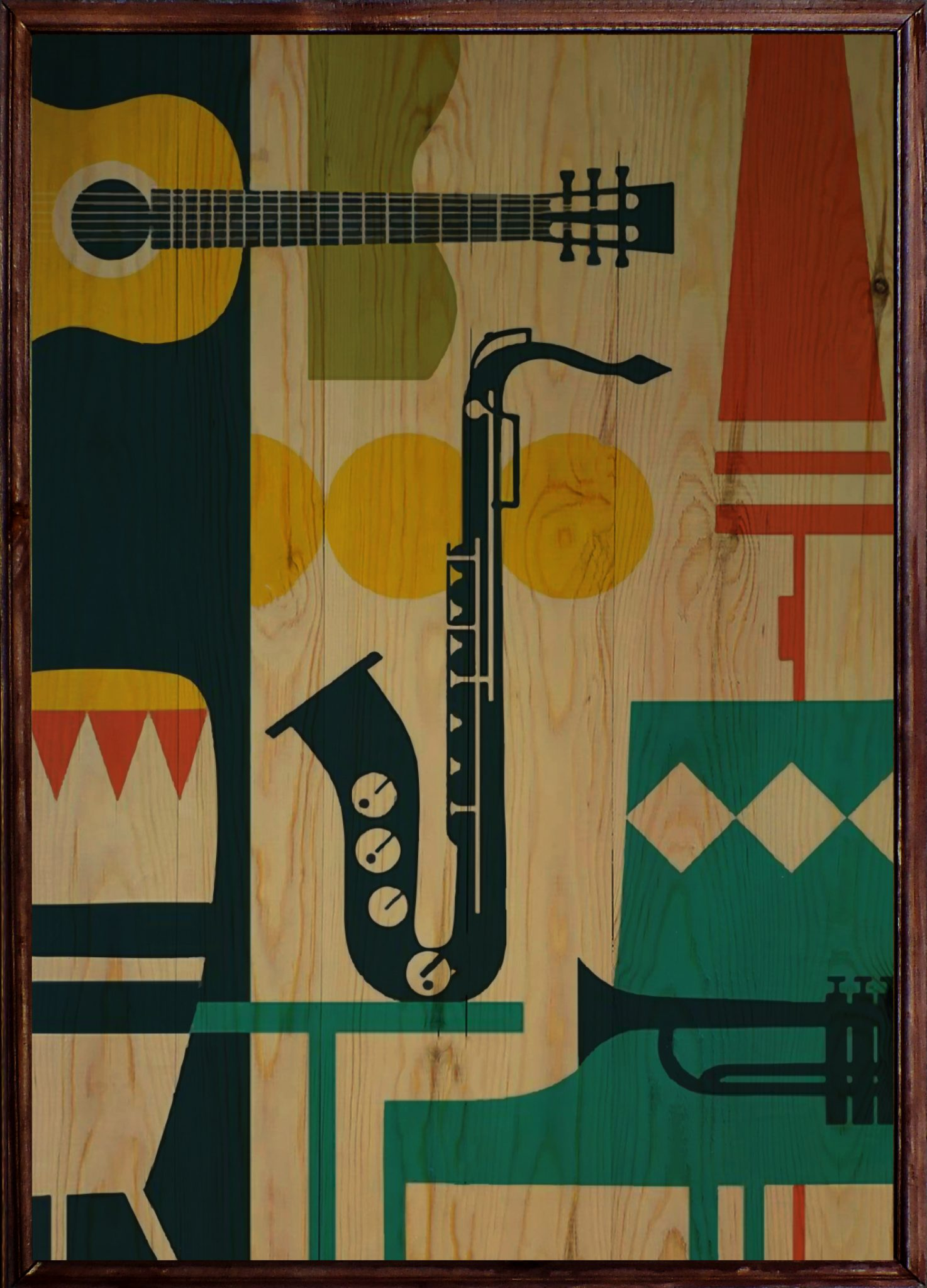 Jazz Ahşap Tablo