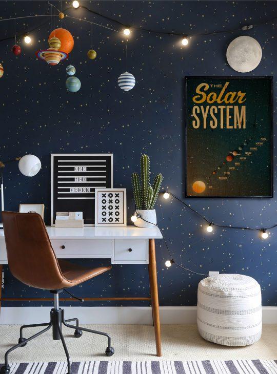 Solar System Ahşap Tablo