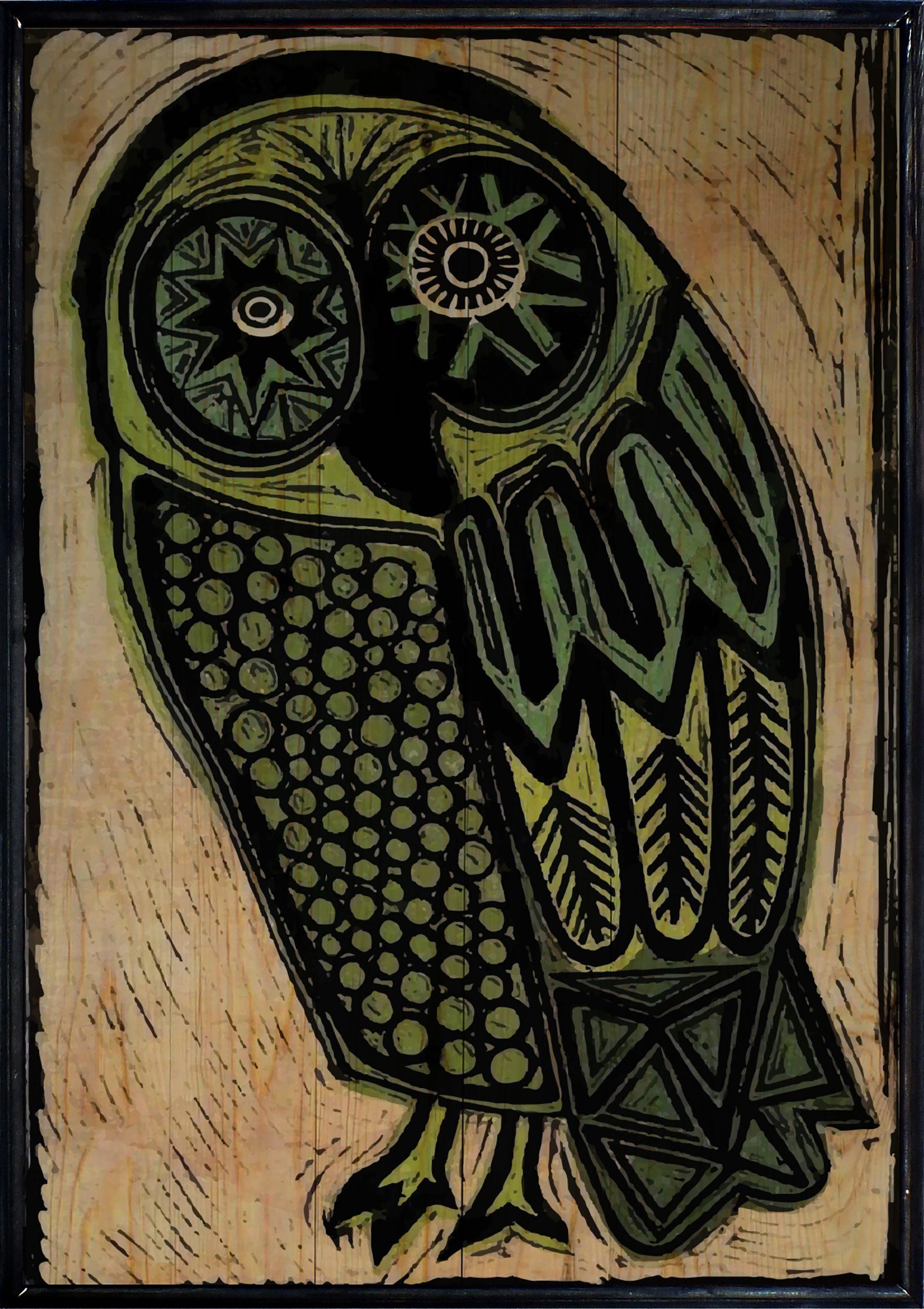 Owl Ahşap Tablo