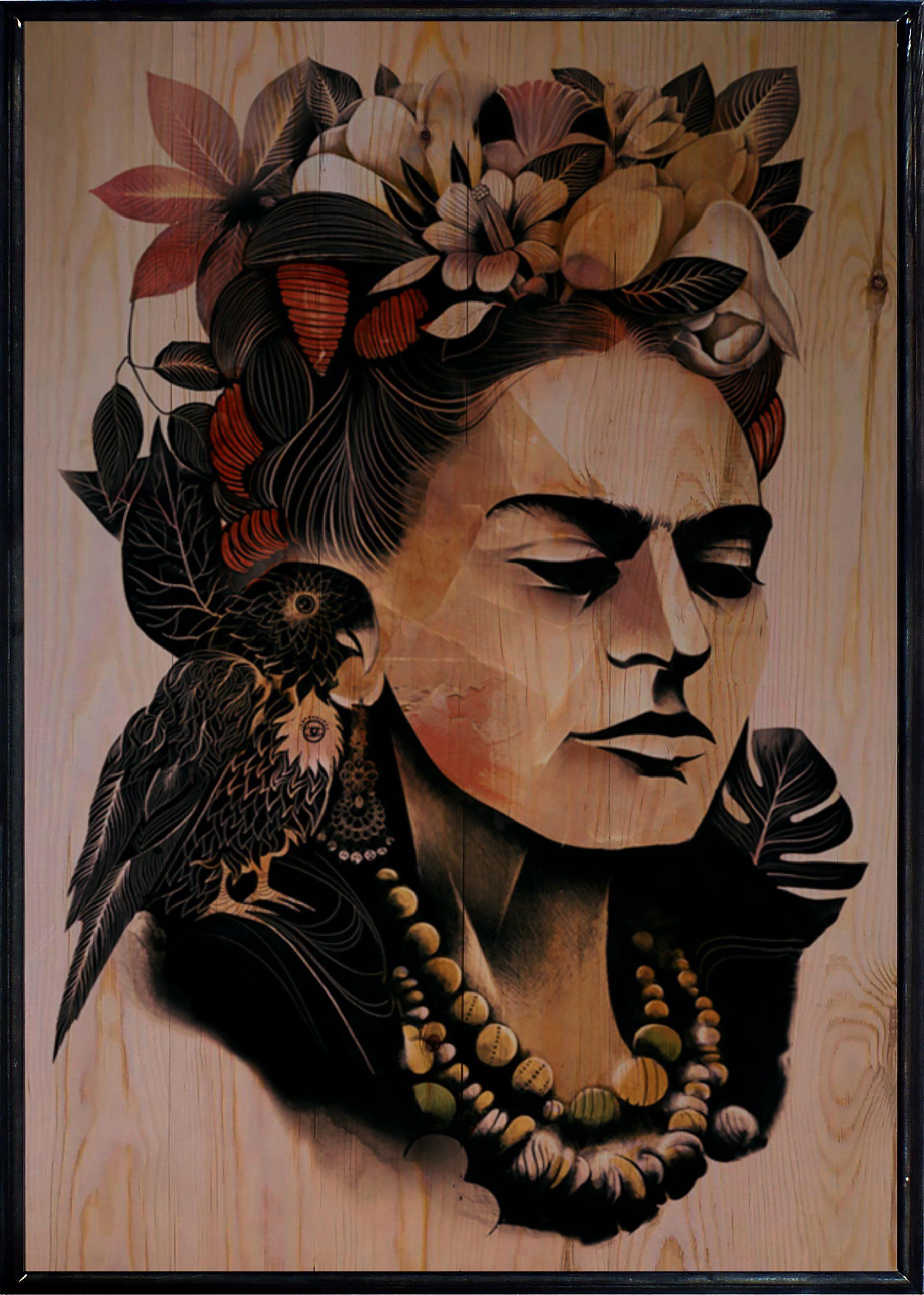 Kahlo Ahşap Tablo
