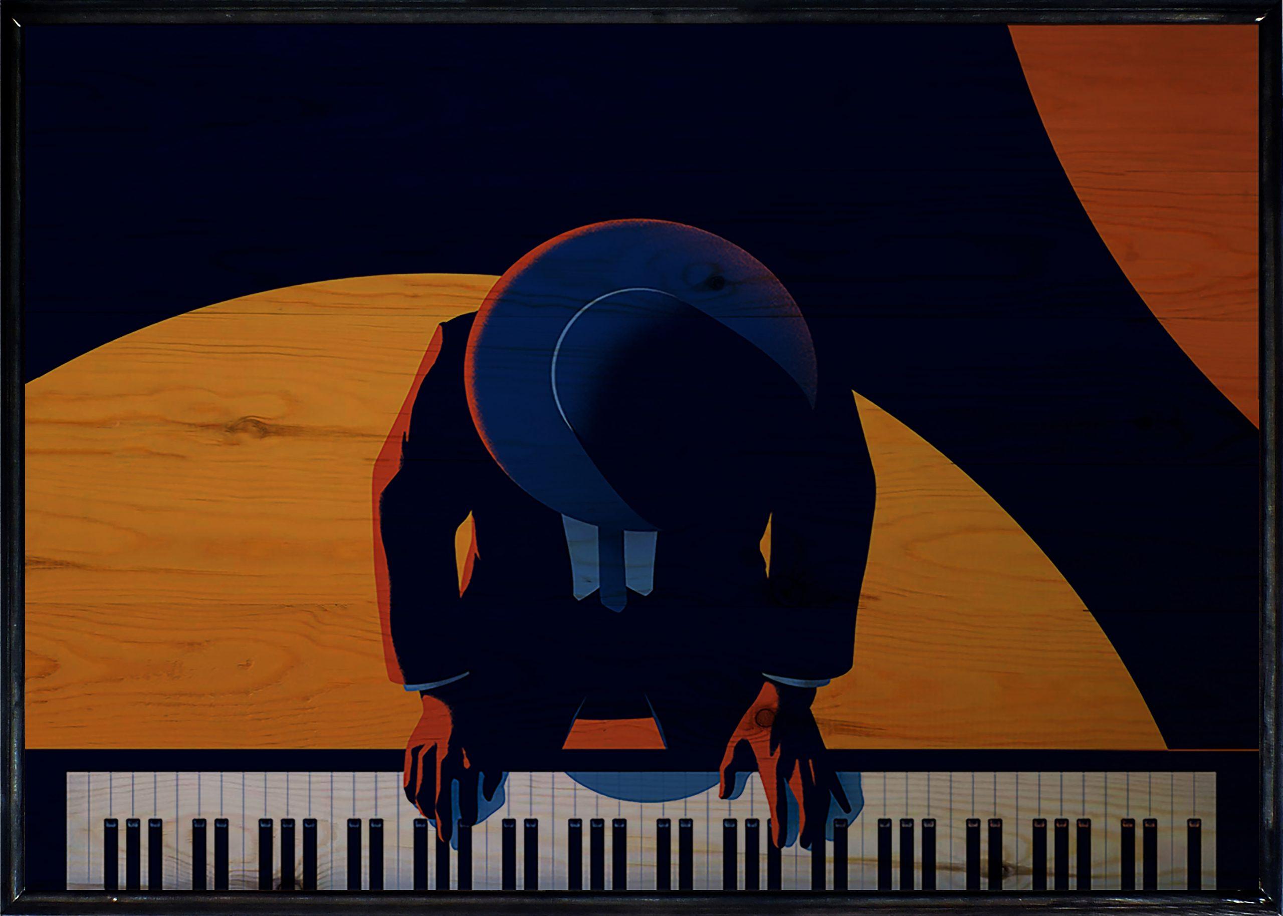 Pianist Ahşap Tablo