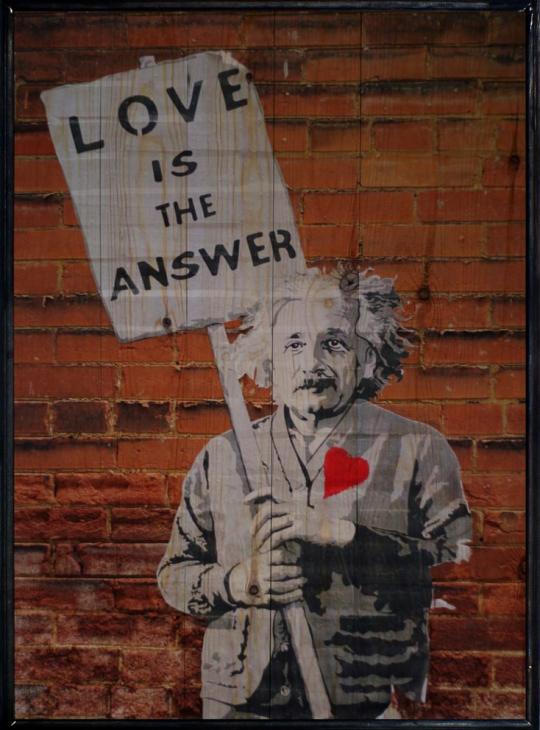 Einstein Ahşap Tablo