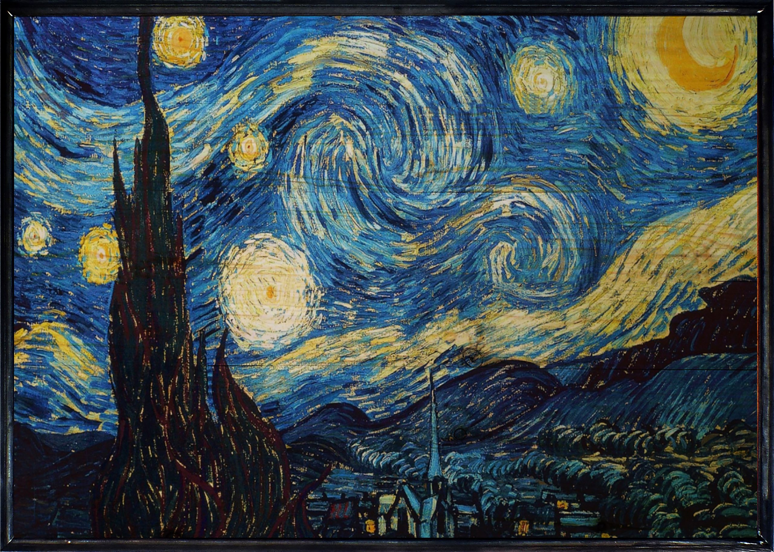 The Starry Night Ahşap Tablo