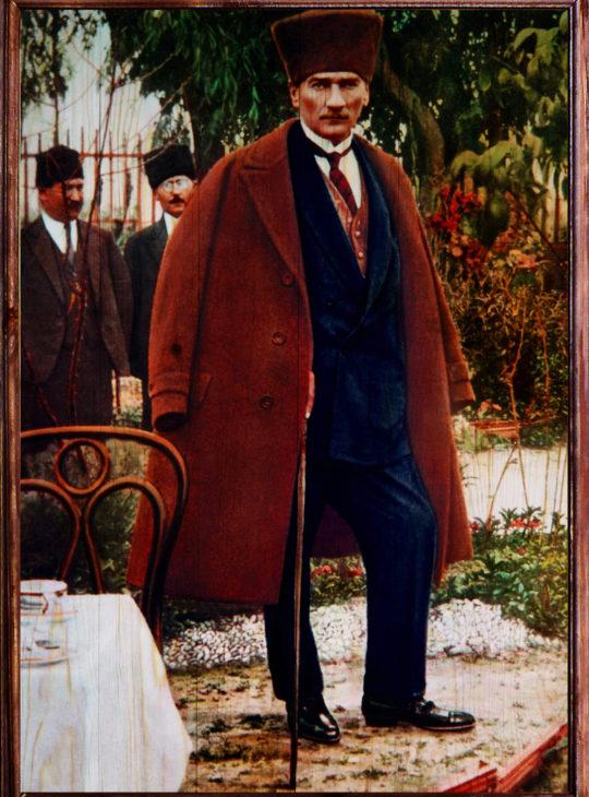 Mustafa Kemal Ahşap Tablo