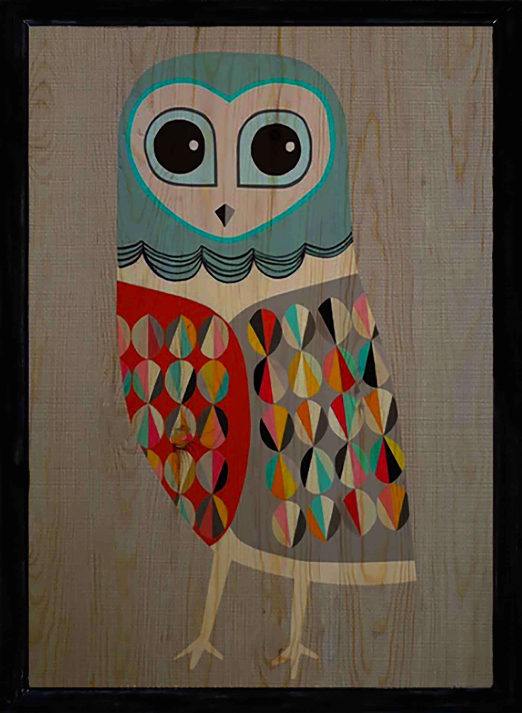 Owl Üçlü Set Ahşap Tablo