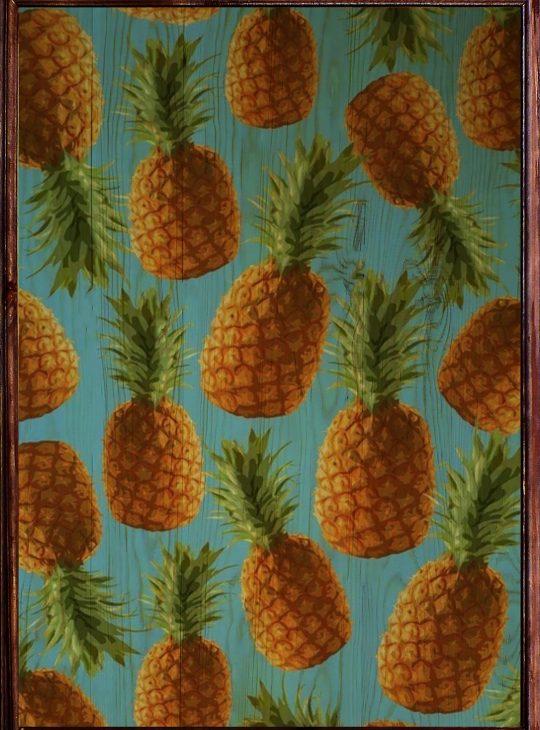 Pineapple Ahşap Tablo