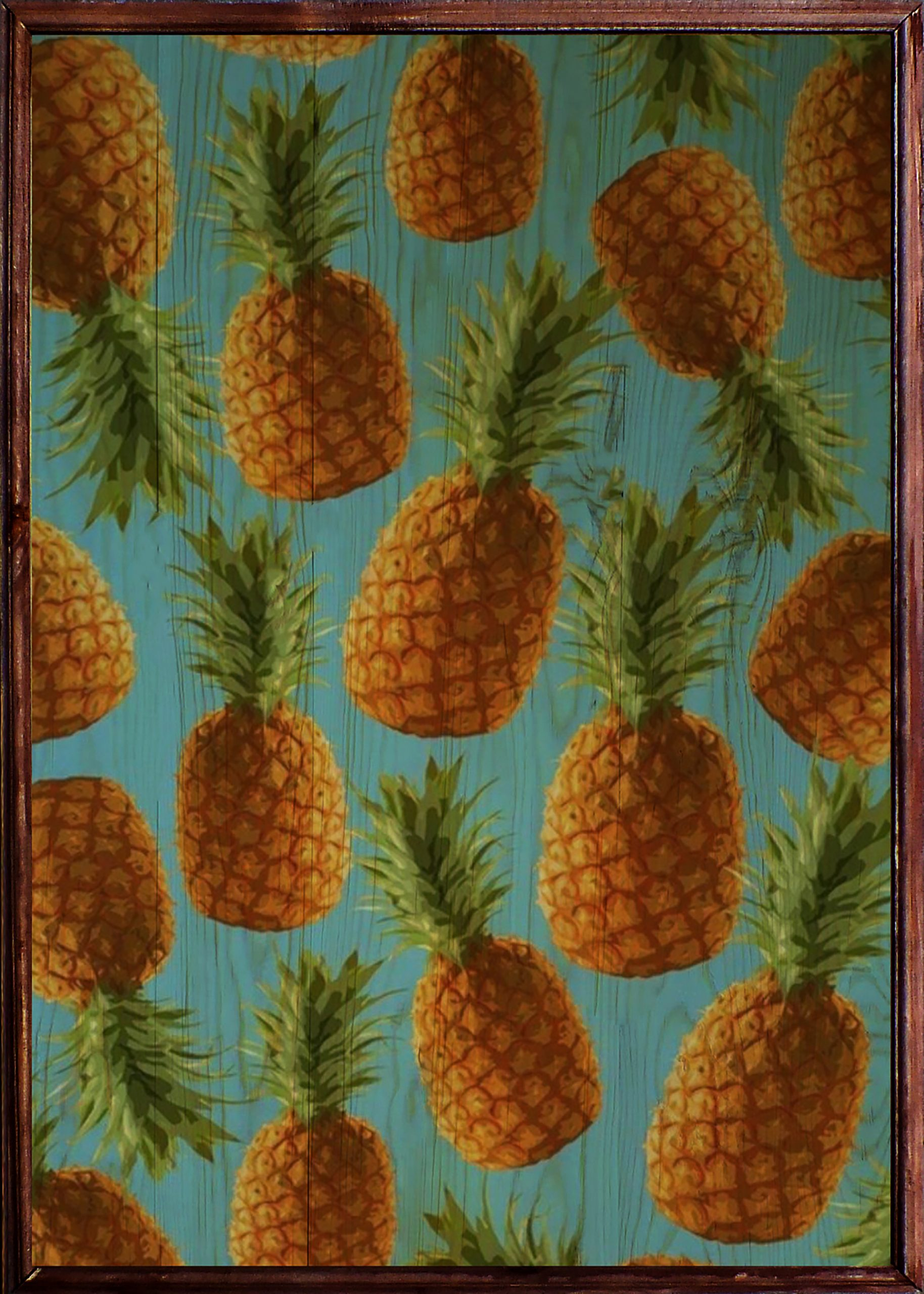 Pineapple Ahşap Tablo