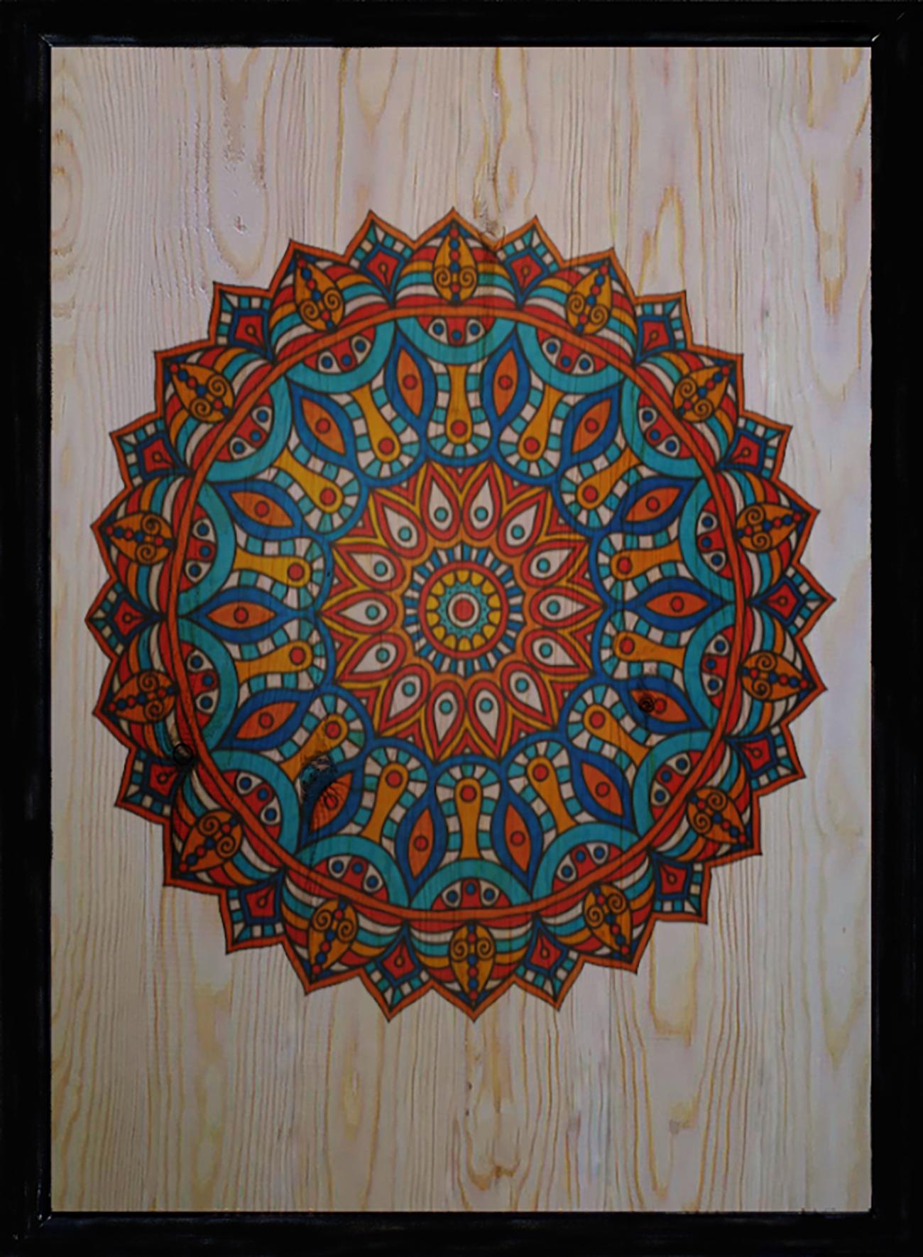 Mandala Üçlü Set Ahşap Tablo