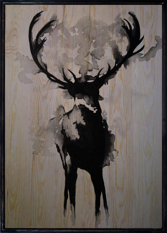 Black Deer Ahşap Tablo