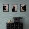 Black Üçlü Set Ahşap Tablo