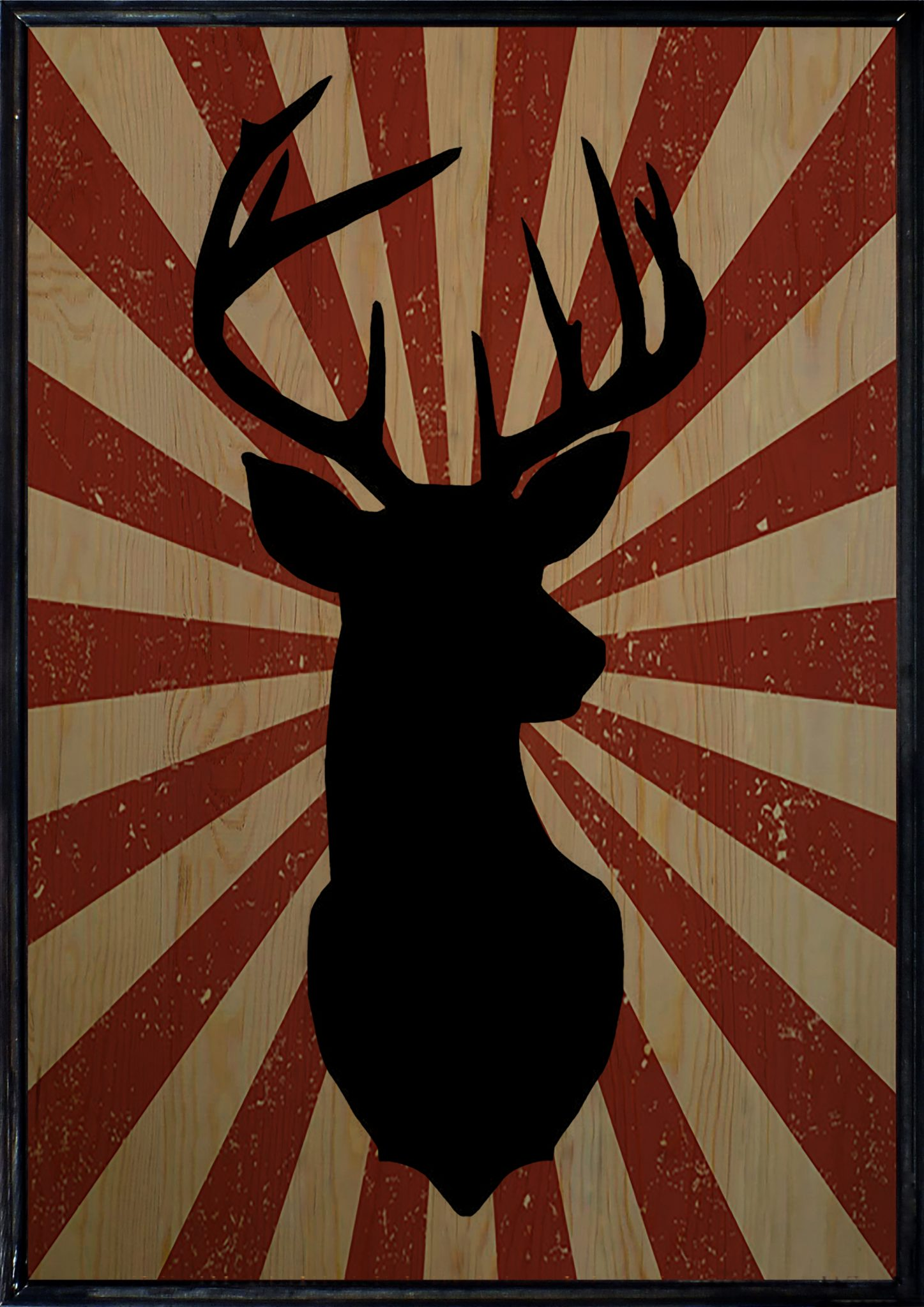 Retro Deer Ahşap Tablo