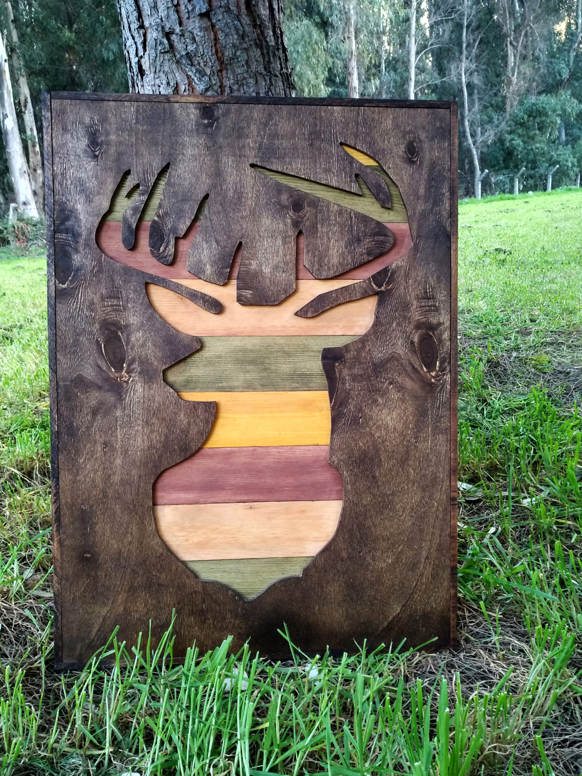 Deer Ahşap Pano