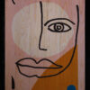 Face 3'lü set ahşap tablo