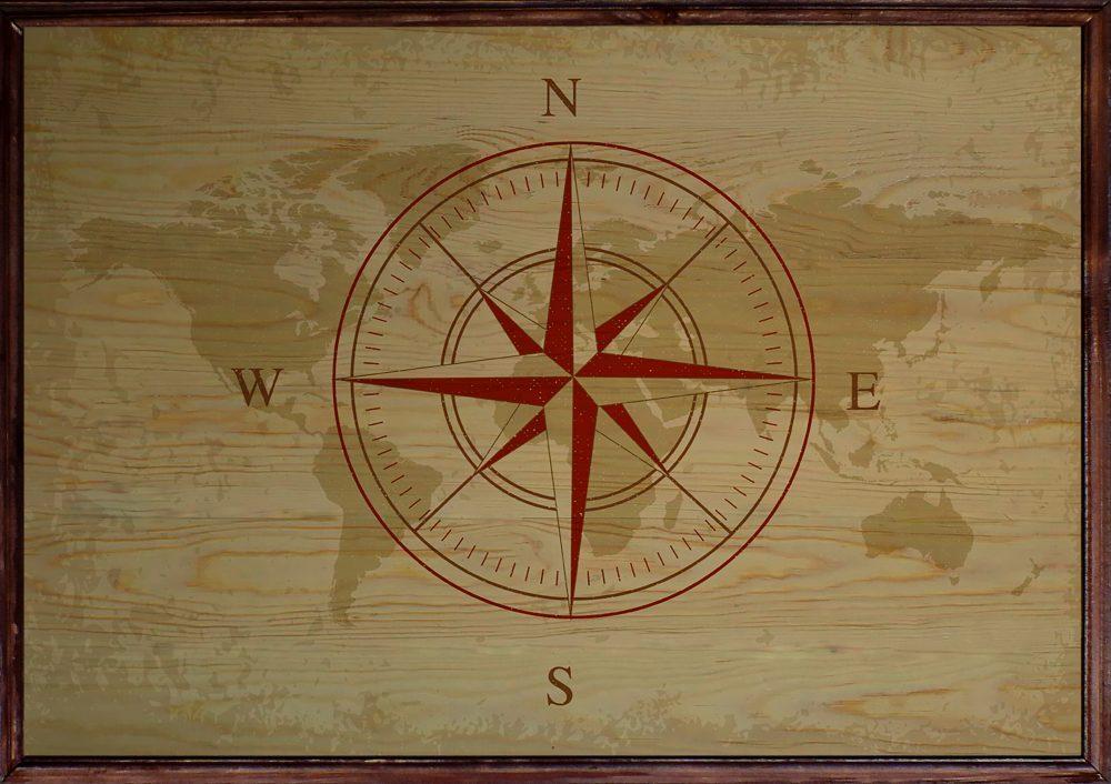 Compass Ahşap Tablo