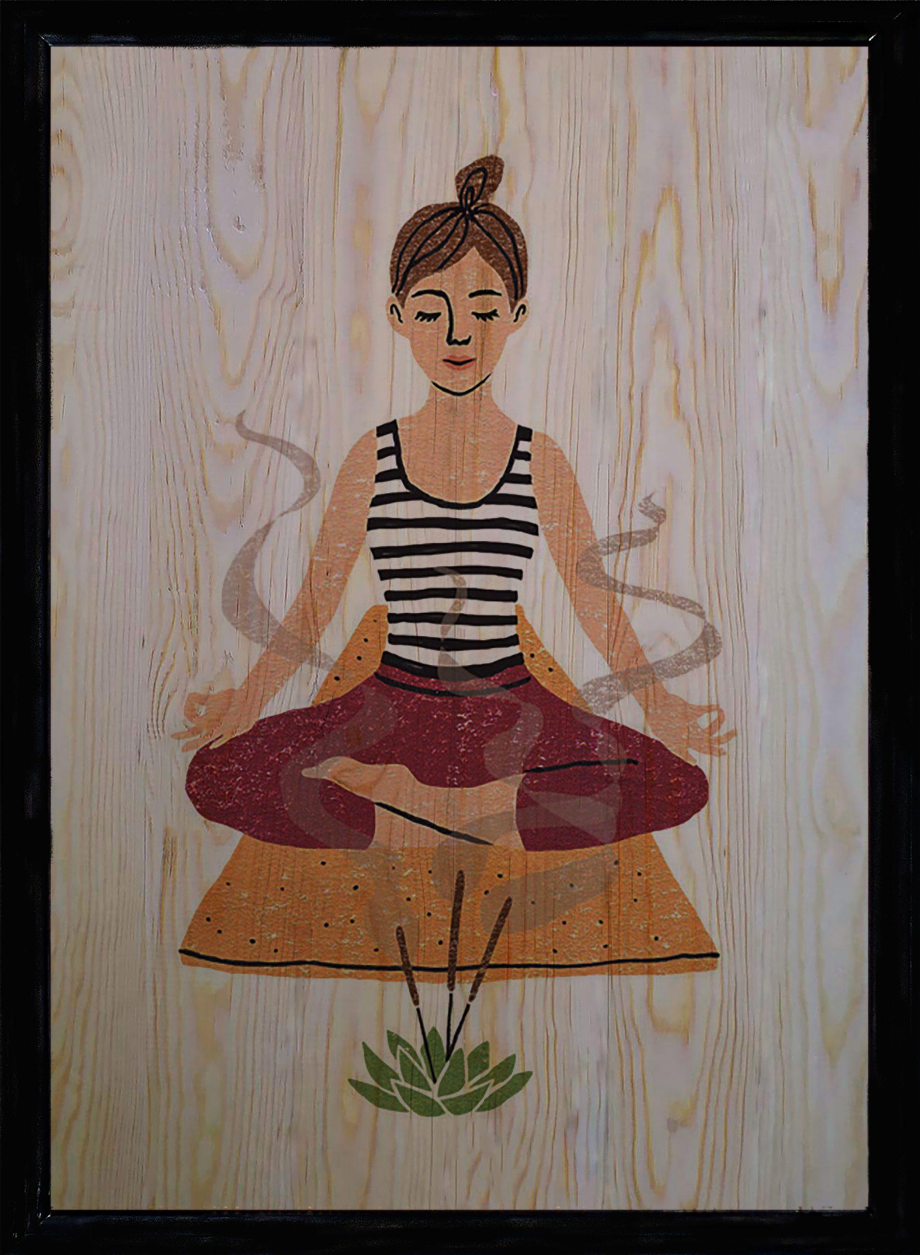 Yoga Üçlü Set Ahşap Tablo