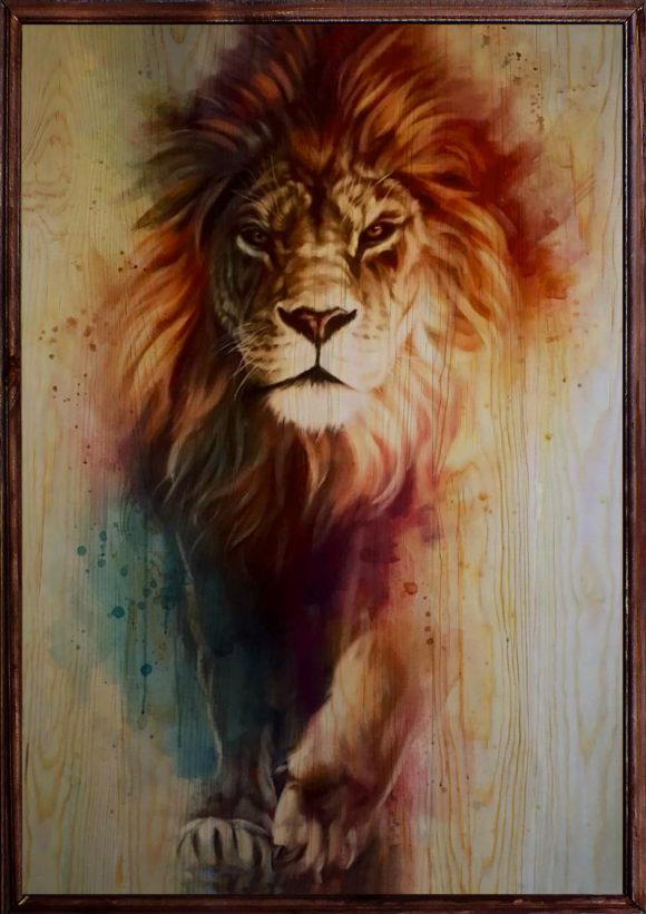 Lion Ahşap Tablo