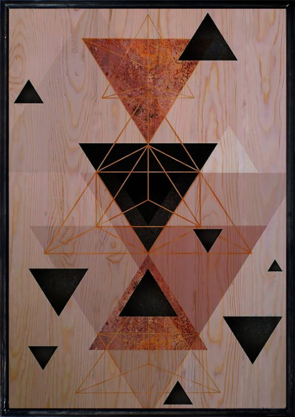 Geometric Ahşap Tablo