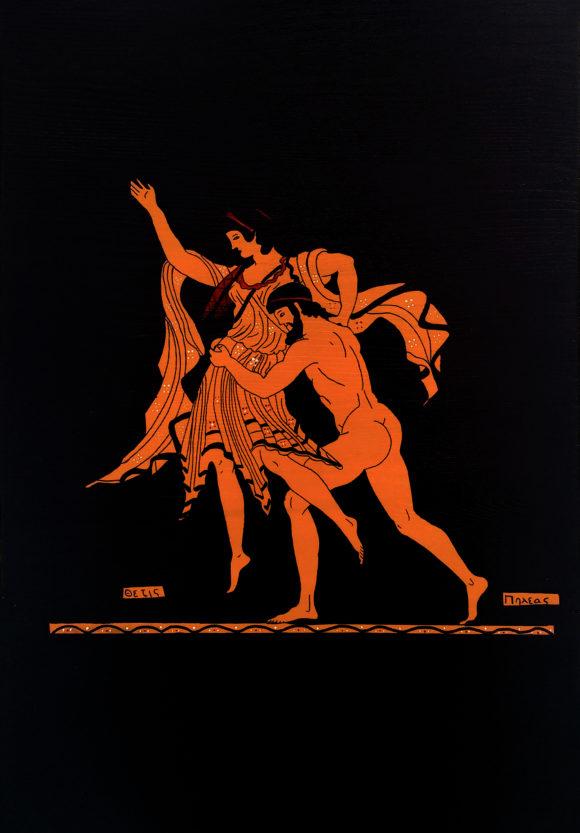 Thetis ve Peleus Ahşap Tablo