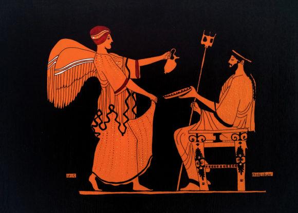 Poseidon ve Iris Ahşap Tablo