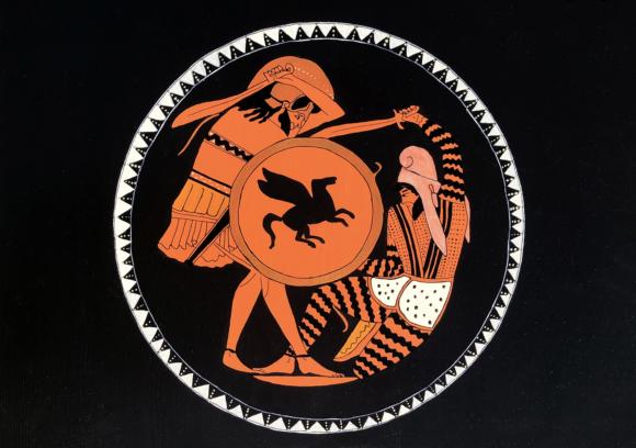 Pers-Yunan Savaşı Ahşap Tablo