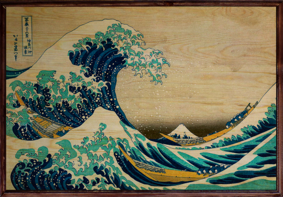 The Great Wave Ahşap Tablo